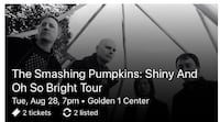 The Smashing Pumpkins tickets (2) Carson City, 89701