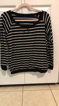 black and white striped crew-neck sweater Murrells Inlet, 29576