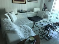 Modani White leather sectional sofa. One side its peeling thats why the reduction of price   Miami, 33137