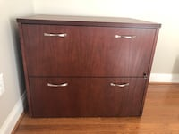 Cherry Double Drawer filing cabinet Leesburg, 20176