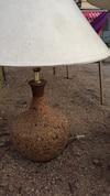 white cone table lamp
