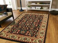 brown and green floral area rug Silver Spring, 20902