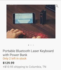Laser Keyboard, speaker and charger