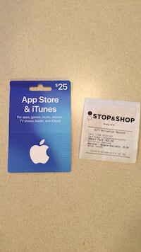 iTunes Gift Card Coventry, 06238