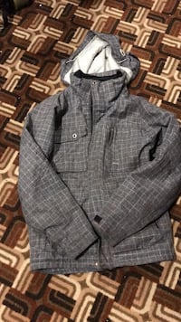 gray and black plaid button-up jacket Toronto, M1W 1Z4