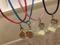 Price for one Handmade glow in the dark filled bottle charm necklace Lutherville Timonium, 21093