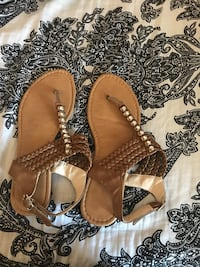 pair of brown leather sandals Lancaster, 93535
