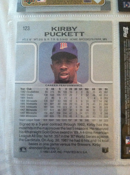 Used Kirby Puckett Rookie Card For Sale In Dallas Letgo