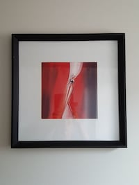 red and brown abstract painting with black wooden frame Toronto, M4B 2E1