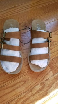 brown sandals - women size 7 Chantilly, 20151