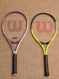 2 Wilson adult tennis racquets 1 men's and 1 women's $10 takes both Dallas, 75248