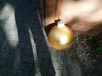 Soft Gold Very Large Christmas Ornament