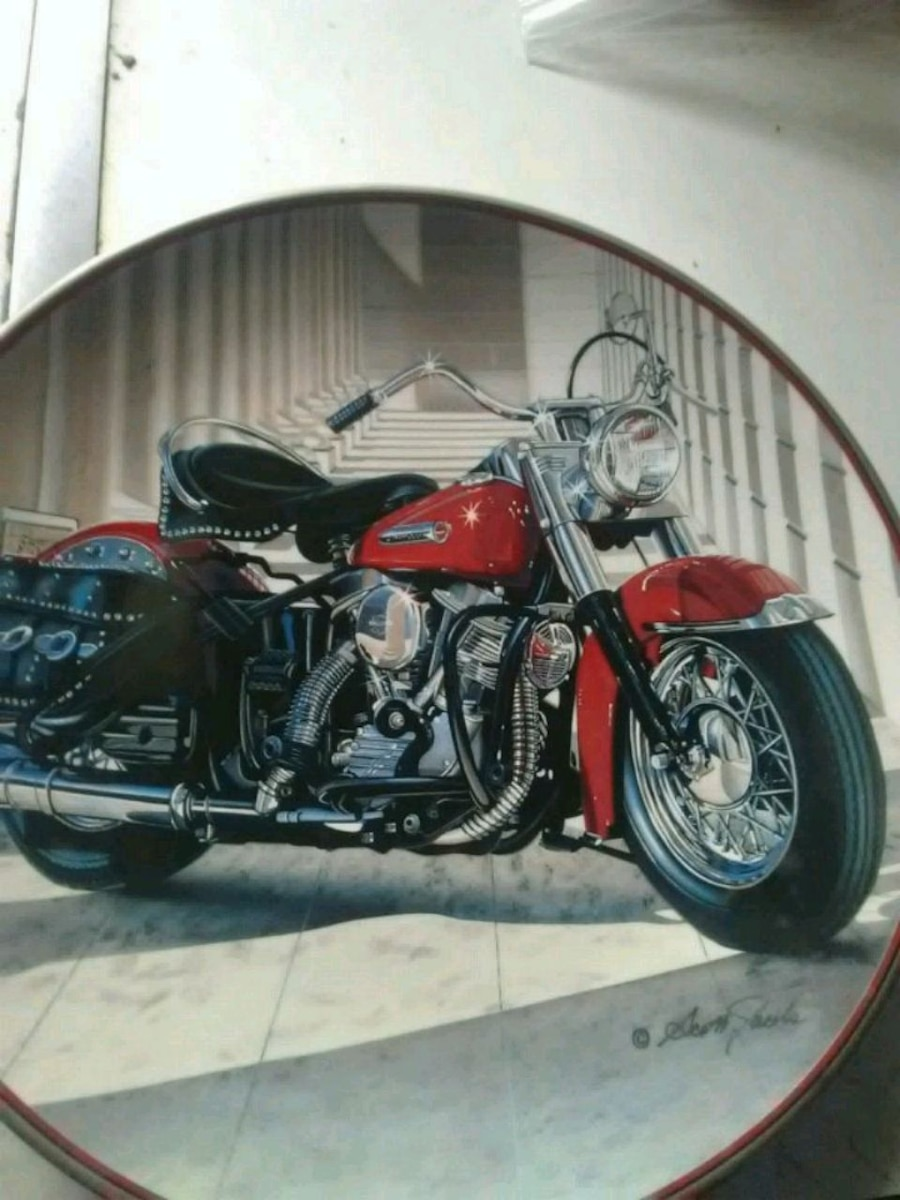 Photo Harley-Davidson Franklin Mint collectible plate