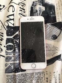 silver iPhone 6 with black case Chatsworth, N0H