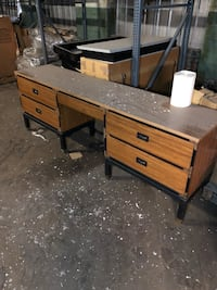 brown wooden single pedestal desk Jenkintown, 19046