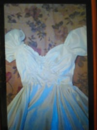 Satin Wedding Dress(off shoulder)with bling-really very pretty!
