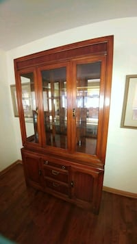 brown wooden china buffet hutch Winnipeg, R3K 0K2