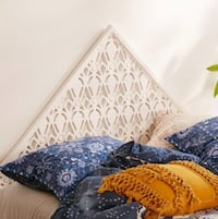 Urban Outfitters carved triangle headboard Baltimore