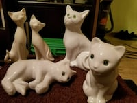 several assorted-position ceramic cat figurines Hamilton, L8L 4W9