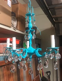 Custom painted and beaded ceiling mount electric chandelier Montgomery, 36109