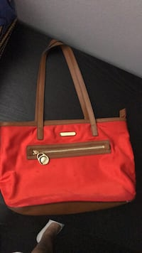 red and black leather tote bag Orlando, 32821