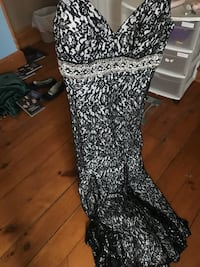 Black and White Lace Prom Dress Grant Park, 60940