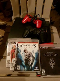PS3 with games and two controllers Baden, N3A 4N1