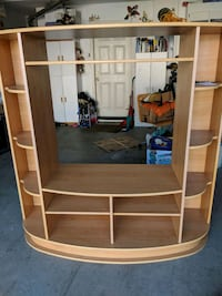brown wooden framed glass display cabinet San Leandro, 94579