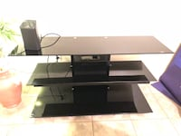 black glass TV stand with mount Ocala, 34471