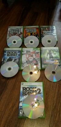 six assorted Xbox 360 game discs London, N6P