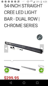 Chrome 4x4 led light bar.