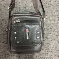 Dark brown leather crossbody bag Toronto, M4C 5G1