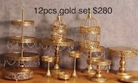 Brand New 12 pcs Gold Cake Stand Set AVAILABLE FOR PICK UP  Toronto, M1B 5J4
