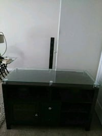 All wood and glass TV stand   $35 Elgin, 29045