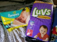 2 packs of size 1 diapers  Spokane, 65754