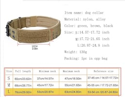 Army style collar and leash