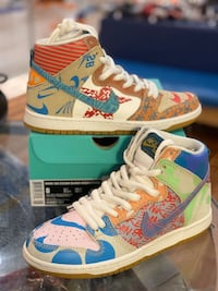 Thomas Campbell What the Dunk Nike Sb size 8 Silver Spring, 20902