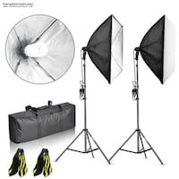 Photo Video Softbox Starter Lighting Kit + FREE SAND BAGS / GTAPhotoStudio . com Toronto