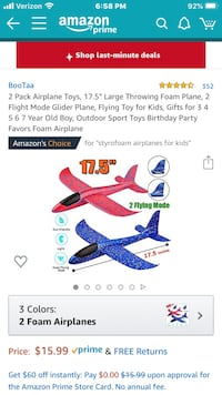 Styrofoam Airplanes (2 Pack) North Las Vegas, 89084