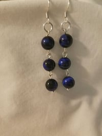 Tiger's Eye black and blue Sterling Silver Earring Melbourne, 32901