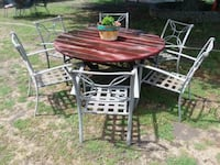 redwood patio table and 6 chairs  French Camp, 95231