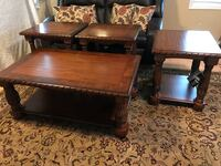 1 coffee three coffee and 3 end tables.  Solid heavy furniture excellent condition. Fall Branch, 37656