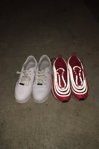 Sage triple white Af1s & nike air max 97s University red both 130 Indianapolis, 46218