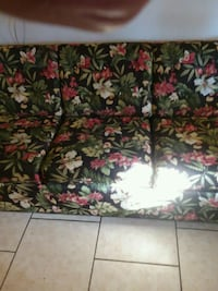 green and red floral fabric 3-seat sofa 798 mi