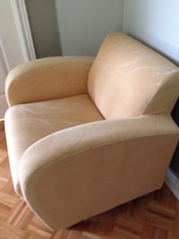 brown and white fabric sofa chair Vaughan, L4H 2X4