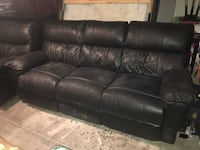 Black real leather couch and love seat Henderson, 89074