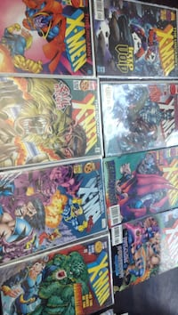 four assorted Marvel comic books