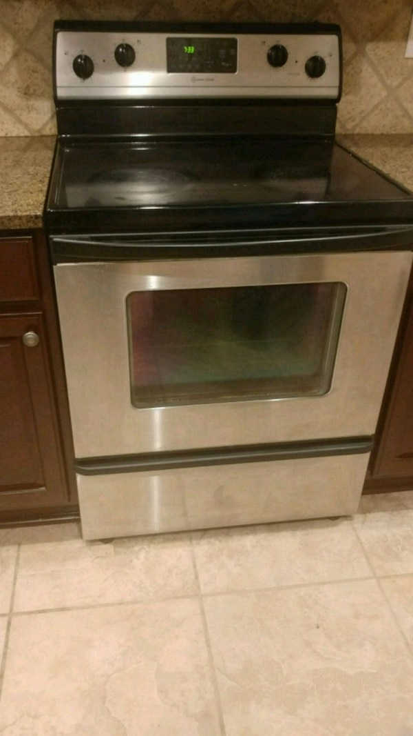 Smooth top electric stove