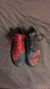 pair of gray-and-red Adidas basketball shoes size 11.5 Waldorf, 20601