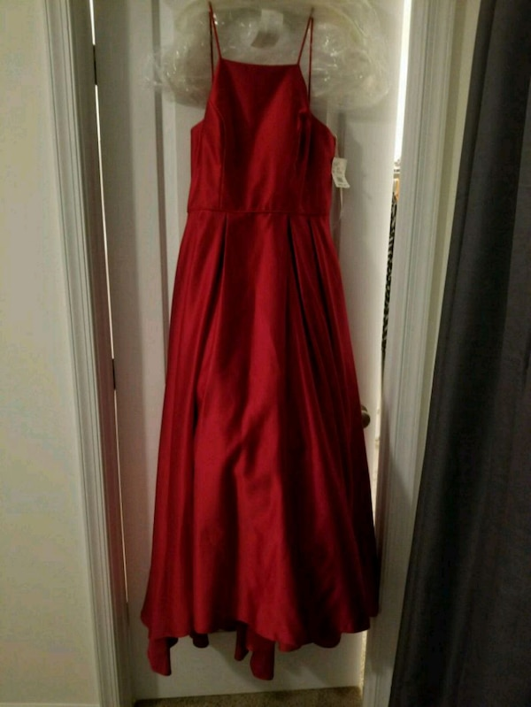 High Neck Satin Ball Gown  79eb718f-af71-467f-b095-cb0aa560659a